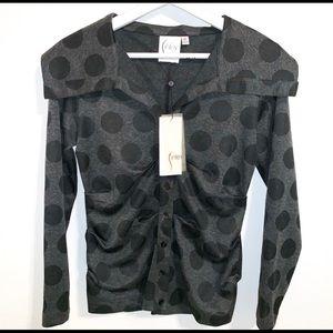 🙈 Finely XS Crawford Ebony Moon Polka Dot Jacket